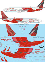 1/144 Scale Decal Air India Express Boeing 737-800 VT-AYC