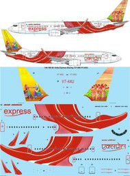 1/144 Scale Decal Air India Express Boeing 737-800 VT-AXU
