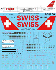 1/144 Scale Decal Swiss International Boeing 777-3DE/ER