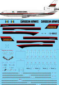 1/144 Scale Decal Caribbean Airlines McDonnell Douglas DC-10-10