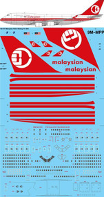 1/144 Scale Decal Malaysian Retro Boeing 747-4H6