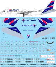 1/144 Scale Decal LATAM Airbus A320-233