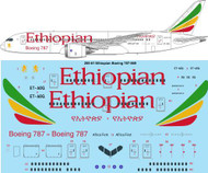 1/200 Scale Decal Ethiopian Boeing 787-8
