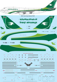 1/200 Scale Decal Iraqi Airways Boeing 747-400