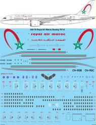 1/200 Scale Decal Royal Air Maroc Boeing 787-8