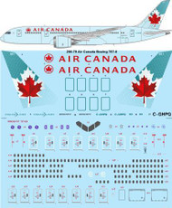 1/200 Scale Decal Air Canada Boeing 787-8