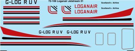 1/72 Scale Decal Loganair HP Jetstram 31