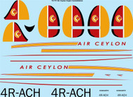 1/72 Scale Decal Air Ceylon Lockheed Super Constellation