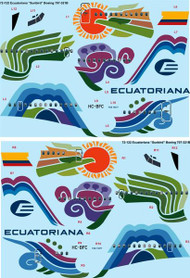 "1/72 Scale Decal Ecuatoriana ""Sunbird"" Boeing 707-321B"