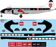 1/72 Scale Decal BEA Red Square DeHavilland Heron