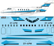 1/72 Scale Decal Maersk Air Hawker Siddeley HS-125-400B