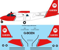 1/72 Scale Decal HM Coastguard Britten Norman BN2A Islander