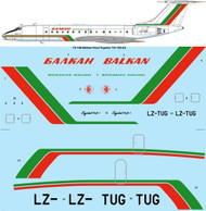 "1/72 Scale Decal Balkan ""Final livery"" Tupolev Tu-134A-3"
