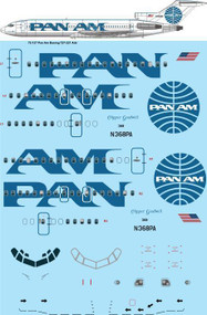 1/72 Scale Decal Pan Am Billboard Boeing 727-200