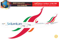 1/144 Scale Decal SriLankan A340-300