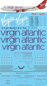 1/200 Scale Decal Virgin Atlantic Boeing 747-400