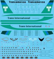 1/144 Scale Decal Transamerica/Trans International Douglas DC-8-63/