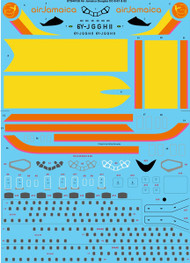 1/144 Scale Decal Air Jamaica Douglas DC-8-61 & 62