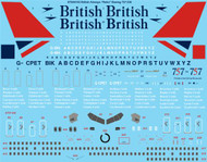 "1/144 Scale Decal British Airways ""Retro"" Boeing 757-200"