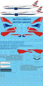 1/144 Scale Decal British Airways Boeing 777-200 & 300