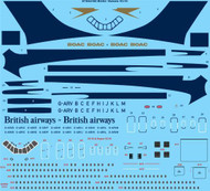 1/144 Scale Decal BOAC Vickers VC10