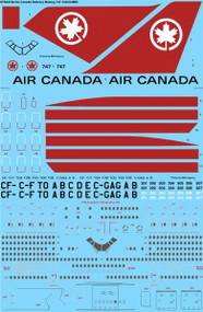 1/144 Scale Decal Air Canada Boeing 747-100/200