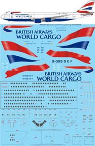 1/144 Scale Decal British Airways World Cargo Boeing 747-87UF/SCD