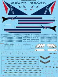 1/144 Scale Decal Delta Boeing 767-232/332/ER