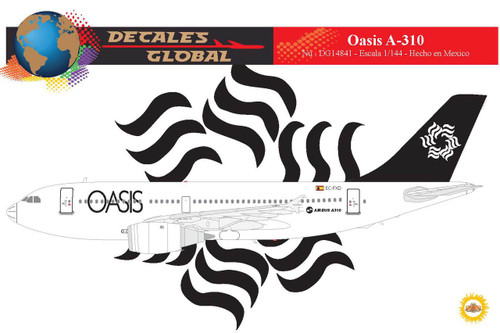 1/144 Scale Decal Oasis A-310