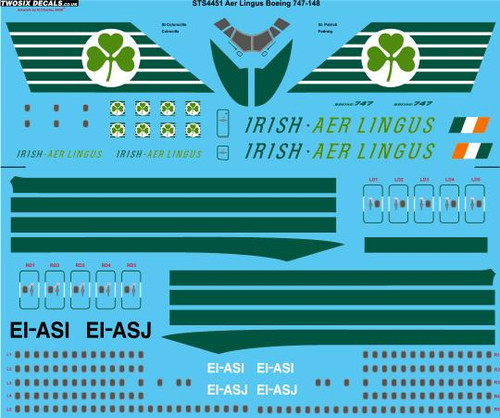1/144 Scale Decal Aer Lingus Boeing 747-148