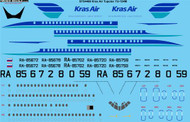 1/144 Scale Decal Kras Air Tupolev TU-154M