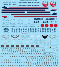 1/144 Scale Decal JAL Japan Air Lines Douglas DC-8-55,61,62
