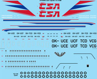1/144 Scale Decal CSA (late) Tupolev TU-154M