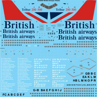 1/144 Scale Decal British Airways Lockheed L-1011 Tristar 1, 200 & 500
