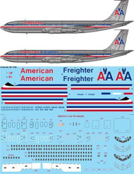 1/144 Scale Decal American Boeing 707323/323C