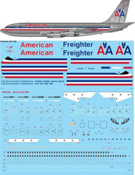 1/144 Scale Decal American Boeing 720B