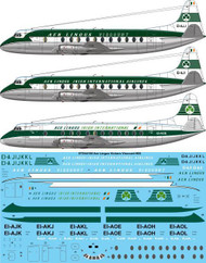 1/144 Scale Decal Aer Lingus (3 versions) Vickers Viscount 800