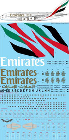 1/144 Scale Decal Emirates Airbus A380-861
