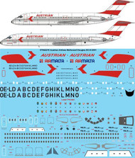 1/144 Scale Decal Austrian Airlines McDonnell Douglas DC-9-32/51