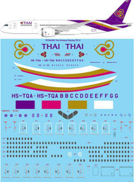 1/144 Scale Decal Thai Airways Boeing 787-8