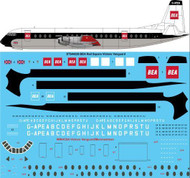 1/144 Scale Decal BEA Red Square Vickers Vanguard