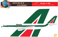 1/144 Scale Decal Alitalia A-300