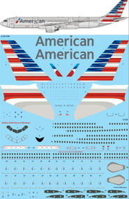 1/144 Scale Decal American Airbus A330-300