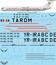 1/144 Scale Decal Tarom Ilyushin IL-62 / IL-62M