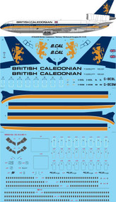 1/144 Scale Decal British Caledonian McDonnell Douglas DC-10-30