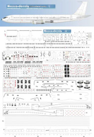 1/100 Scale Decal Detail Sheet 707 / 720