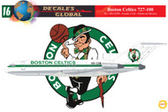 1/144 Scale Decal Boston Celtics 727-100 Team Plane
