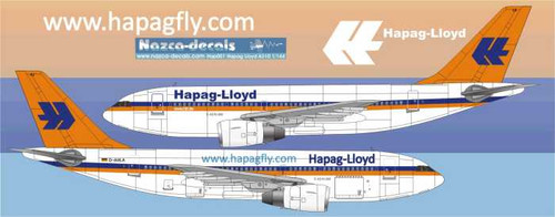 1/144 Scale Decal Hapag Lloyd  A310
