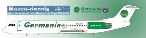 1/144 Scale Decal Germania F-100 with 2 Different Liveries