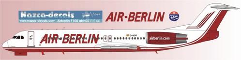 1/144 Scale Decal Air Berlin F-100